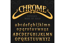 Chrome letters typeface made of steel modern looking realistic font isolated on background