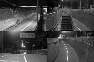 CCTV surveillance camera in black and white