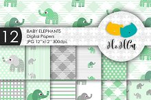 12 Baby Elephants patterns.