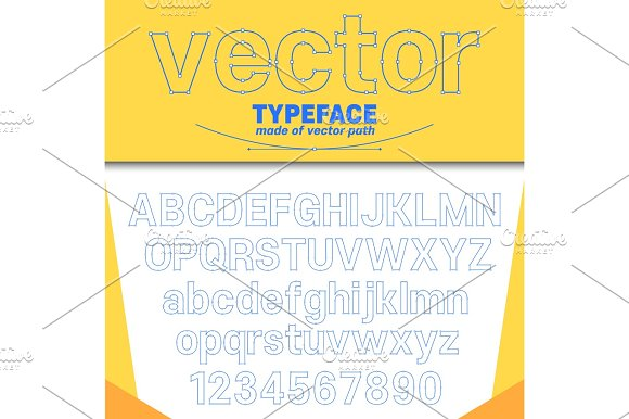 Vector Looking Typeface Shows Curves On Letters
