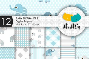 12 Baby Elephants patterns - 2.