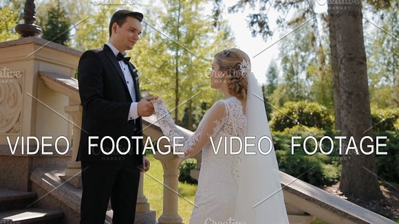 Groom Stretches His Hand To His Bride