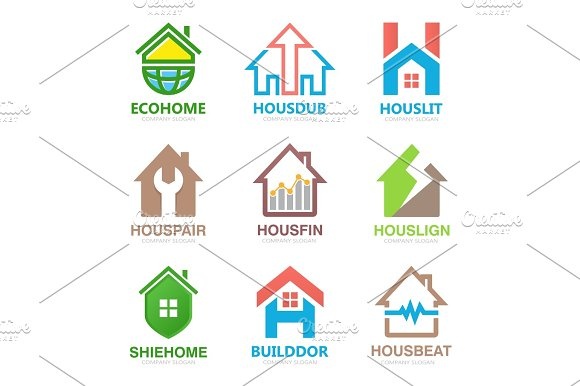 Set Of House Logo Design Template House Logo Home Logo Real Estate Logo Property Logo Home Repair Logo Hotel Logo Vector Logo Template