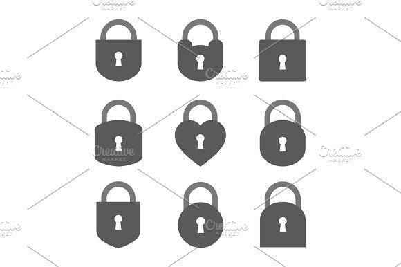 Set Of Lock Icon