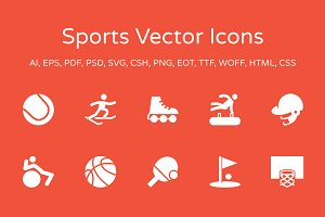 60 Sports Vector Icons Pack