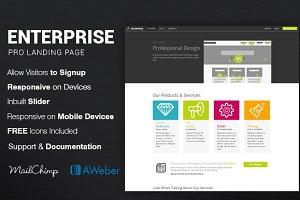 Enterprise Modern App Landing Page
