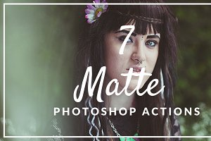 7 Matte Photoshop Actions