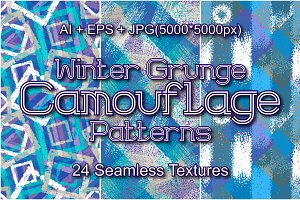 24 Winter Grunge Camo Patterns