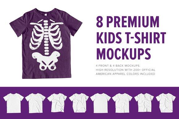 8 Premium Kid's T-Shirt Mockups