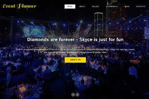 Event Planner One Page Theme