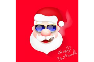 Santa Claus vector illustration.