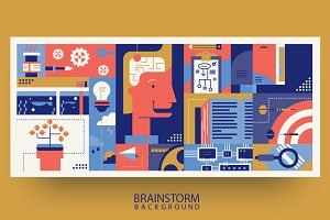 Creative brainstorm idea abstract