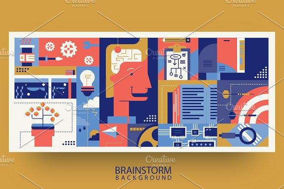 Creative Brainstorm Idea Abstract