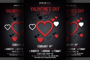 Valentines Day Minimal Flyer