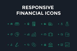 Responsive Financial Vector Icons