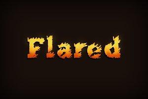 Flared Font