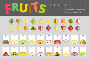 Simple Vector Fruits & Berries Set