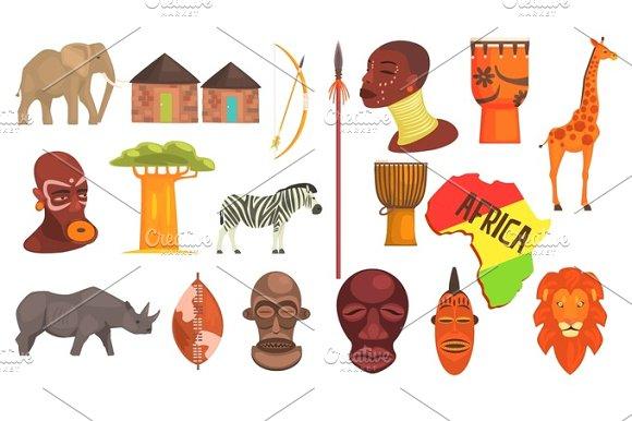 african symbols set illustrations creative market