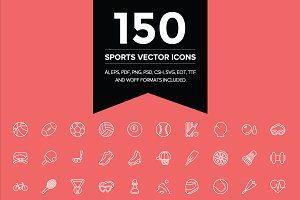 150 Sports Vector Icons