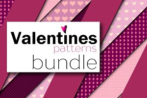 Seamless Valentines patterns