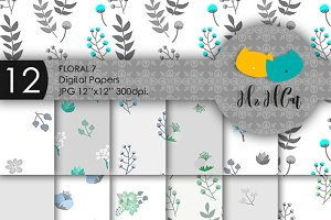 Floral patterns bundle.