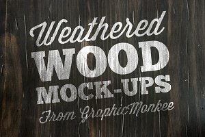 15 Weathered Wood Texture Mock-Ups