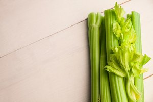 Close up of celery