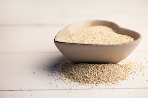 Sesame seed on the table