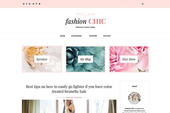 fashion chic wordpress theme wordpress blog themes creative market