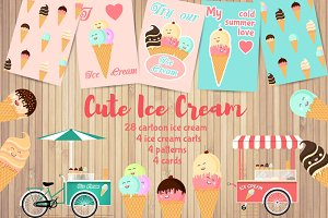 Ice Cream vector set