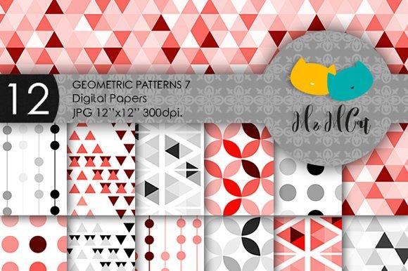 12 Geometric Digital Papers