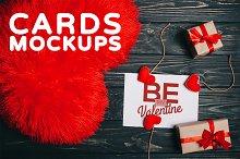 Valentine's Day Gift Cards Mock-ups