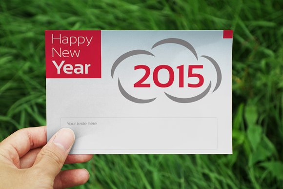 New Year Greeting Card Card Templates on Creative Market – New Year Greeting Card Template