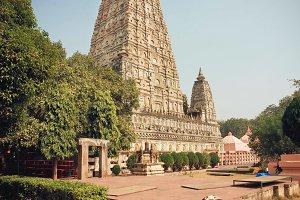 Famous buddhist Mahabodhi Temple