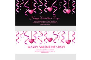 Valentine day banners template. eps