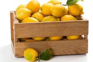 Lemons in a box.