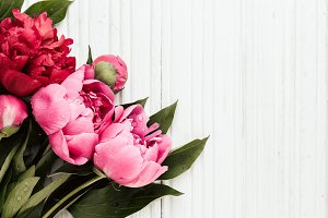 Mother day background with peonies flowers
