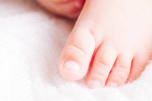 Baby close up foot
