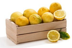 Box of lemons.