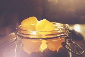 Mason jar full of jelly candies