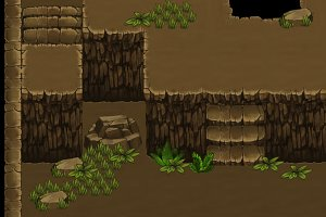 Top-Down Game Tileset 1: Cave