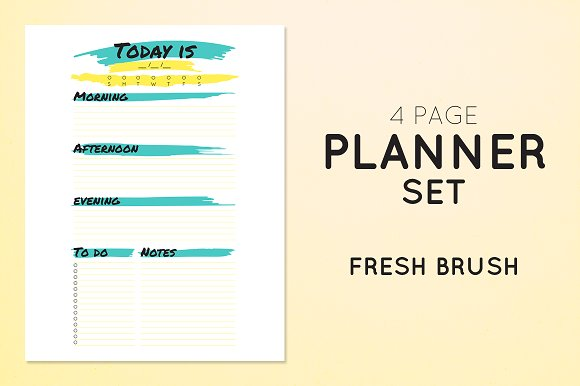 Planner Set - Fresh Brush
