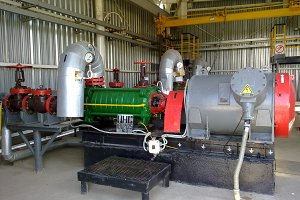 Centrifugal pump for pumping oil. Equipment for oil