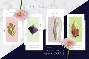 Crystal business card collection