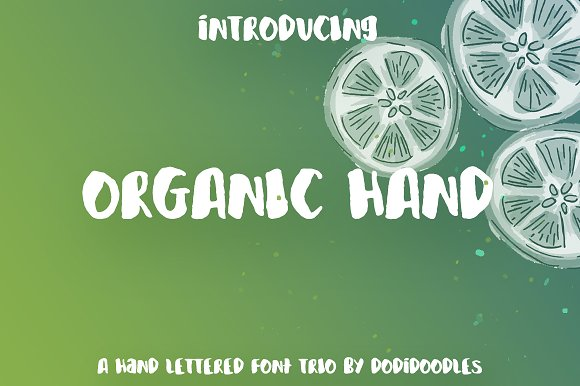 Organic Hand Font Trio