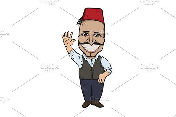 Turkish Man Waving Hello
