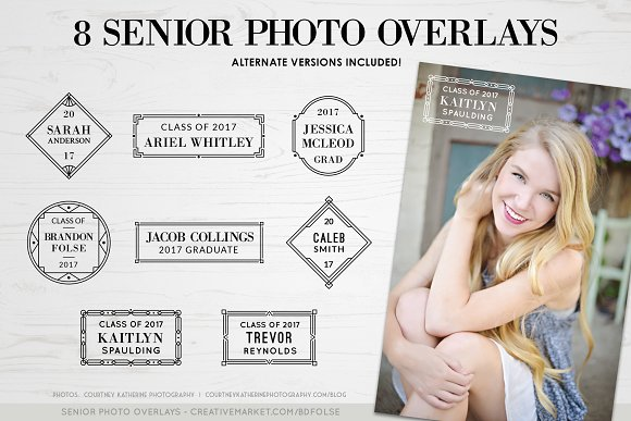 8 Graduation Photo Overlays Bonus