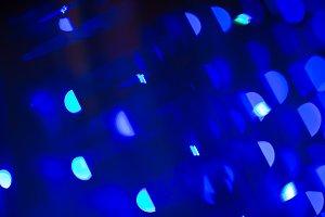 Blue defocused christmas or holiday lights background