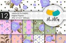 Vintage Flowers patterns.