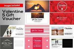 Valentine Gift Voucher Template
